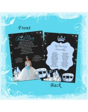 Blue Midnight Princess Carriage Quinceanera Invitation