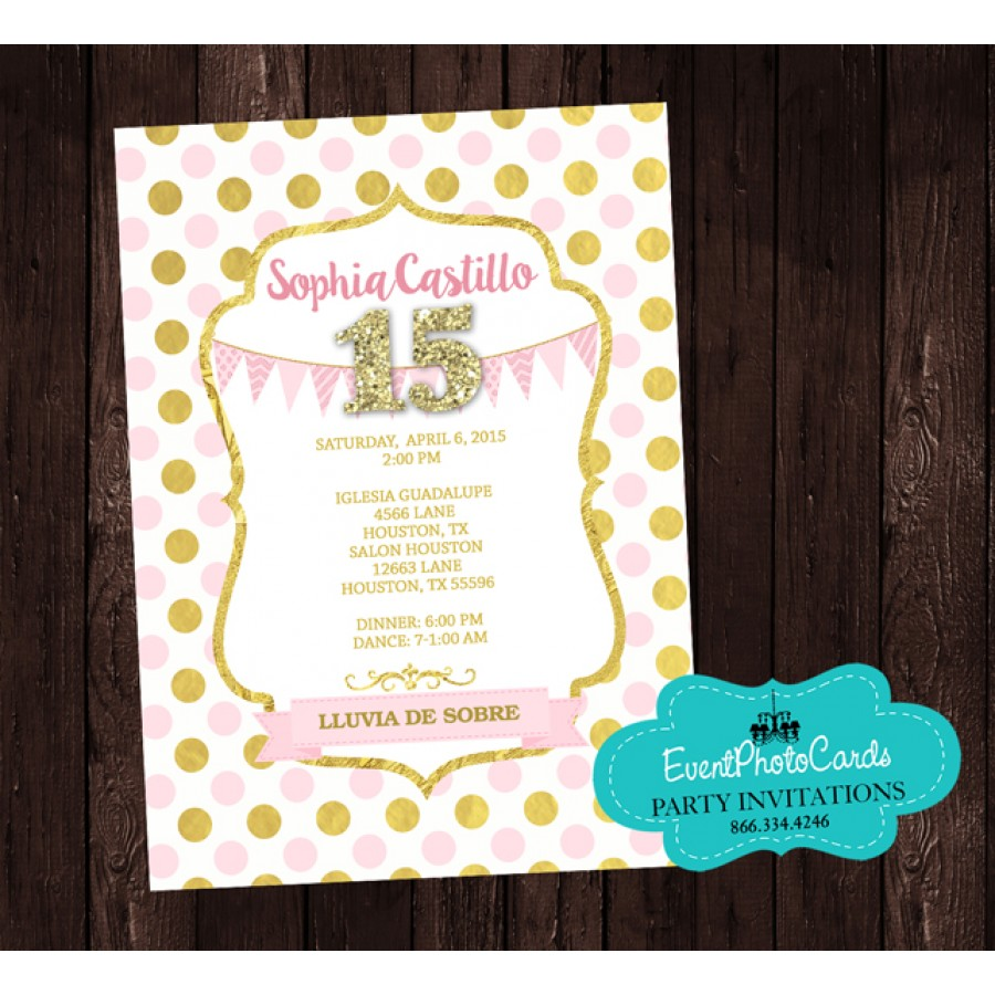 Polka Princess Birthday Party Invitations