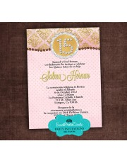 Sweet 15 Invitations Pink Gold Blush