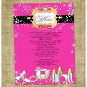 Fairytale Pink and Gold Quinceanera Invite