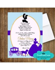 Cinderella Sweet 15 invitations