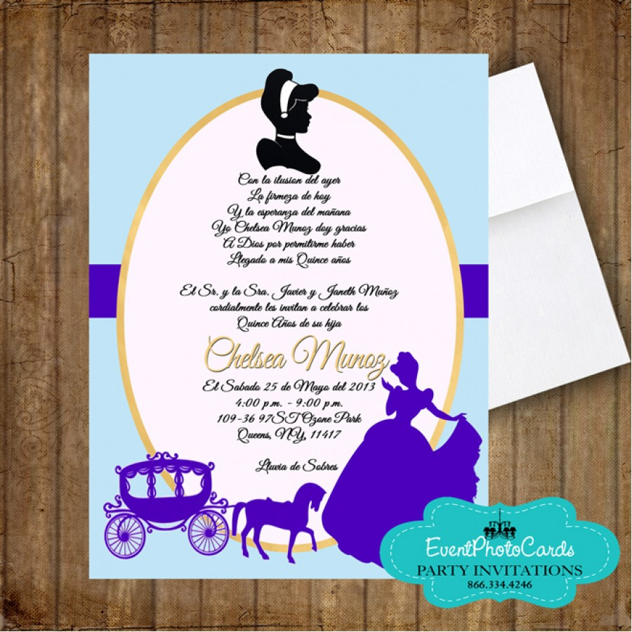 cinderella invitation to the ball template - princess cinderella quinceanera ball carriage