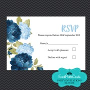 Princess Theme RSVP - Baby Blue