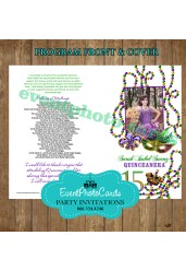 Mardi Gras Party Quinceanera Program