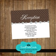 LV Inspired Reception Card