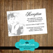 Audrey Hepburn Reception Card