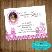 Princess Pink Quinceanera Card