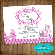 Princess Pink Quinceanera Card 2