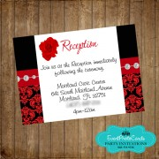 Red Roses Reception Card