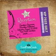 Star Purple Pink  Reception Card