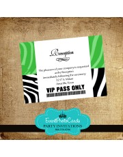 Green Reception Card Pass