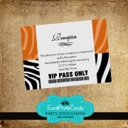 Zebra Reception Card Pass _ Orange
