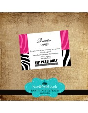 Fuschia Pink Reception Card Pass