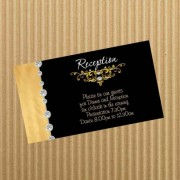 Gold Black Reception Card
