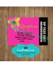 Pass Butterfly Fuschia Reception Card