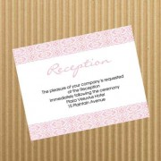 Simple Reception Card - Pink