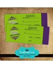 Mardi Gras Ticket RSVP Card