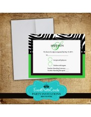 Green Zebra RSVP Card