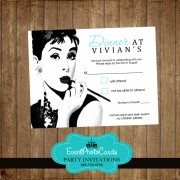 Breakfast Tiffany Matching RSVP Card