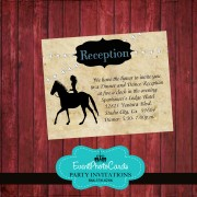 Cowgirl Western Matching RSVP Card