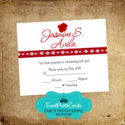 Red Roses RSVP Card