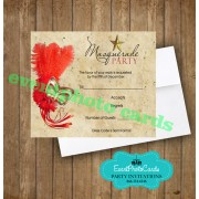 Red Gold Scroll Mask   RSVP