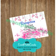 Hearts Pink Reception Card