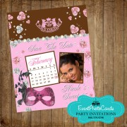 Juicy Couture Inspired Save the Date Quinceanera