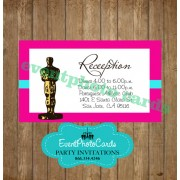 Pink Oscar Reception Card