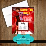 Rockstar Save the Date - Red Sweet 16