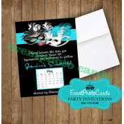 Teal Phantom of the Opera Save the Date