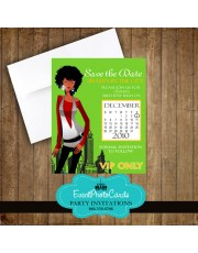 Lime Green Save the Date Sweet 16