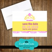 Tiara Mis Quince Save the Date