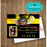 Mask Yellow Save the Date