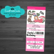 Alice in Wondeland Pink Ticket Pass