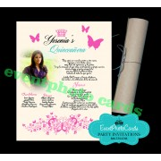 Quinceanera  Scroll Invitations - Butterfly  2
