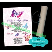 Quinceanera  Scroll Invitations - Butterfly
