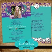 Volleyball Sweet 16 Invitations