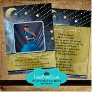 Over the Moon Quinceanera Invitations