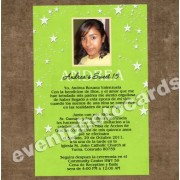 Under the Stars Quincenera Photo Invitations