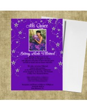Under the Stars Theme Quinceanera Invitations Sweet Sixteen