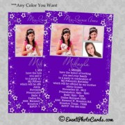 Quinceanera Purple Invitations Stars