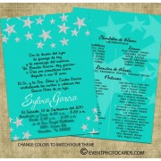 Stars Quinceanera Invitation - Teal A23