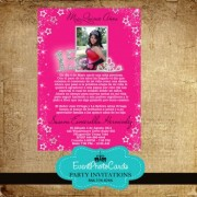 Princess Stars Sweet 15 Invitations