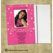 Stars Themed Sweet 16 Invitations H7