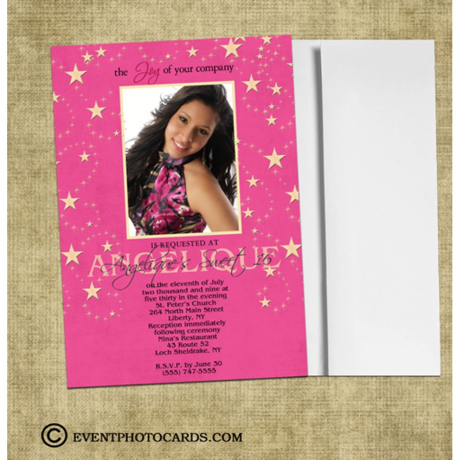 under the stars quince invitations sweet sixteen