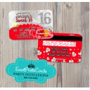 Bling Red Sweet 16 - Credit Card
