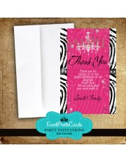 Zebra Chandeleir Thank You Card