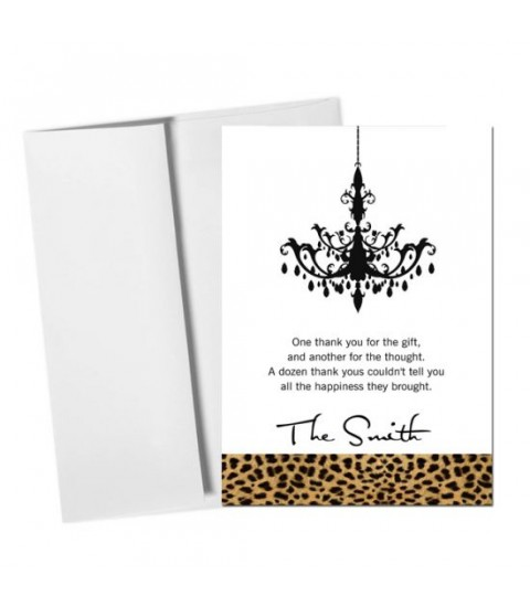 Leopard Thank You Card