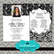 Black & White Quinceanera Invitations A